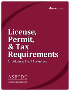 eBook 1 - Licenses, Permits,Taxes COVER