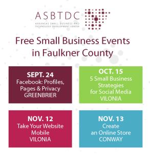 Gratis Eventos Pequeños Negocios en el condado de Faulkner, Fall 2014