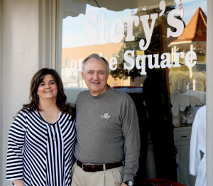 Story's on the Square owners Lynn and Lori Story