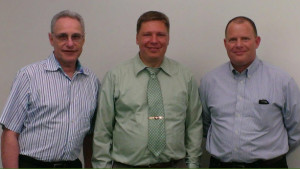 Ozark IC team (Pictured left to right: Dr. Ian Getreu, Director of Business Development; Dr. Matt Francis,  President and CEO; and Jim Holmes, Director of Business Development)
