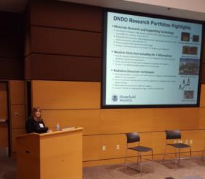 Lisa Sobolewski talks about the Dept. of Homeland Security's SBIR program