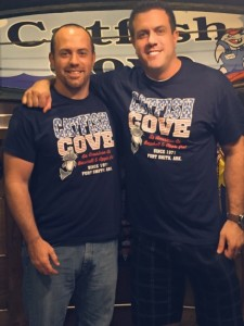 Roland Johnson and Drew McGuire, new owners of Catfish Cove