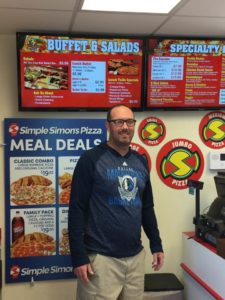 Simple Simon Pizza owner Chad Hutson